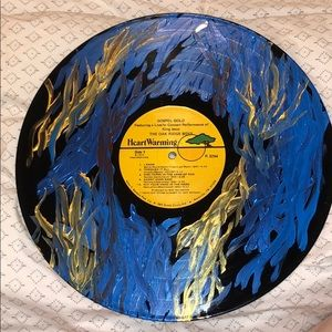 Painted vinyl record